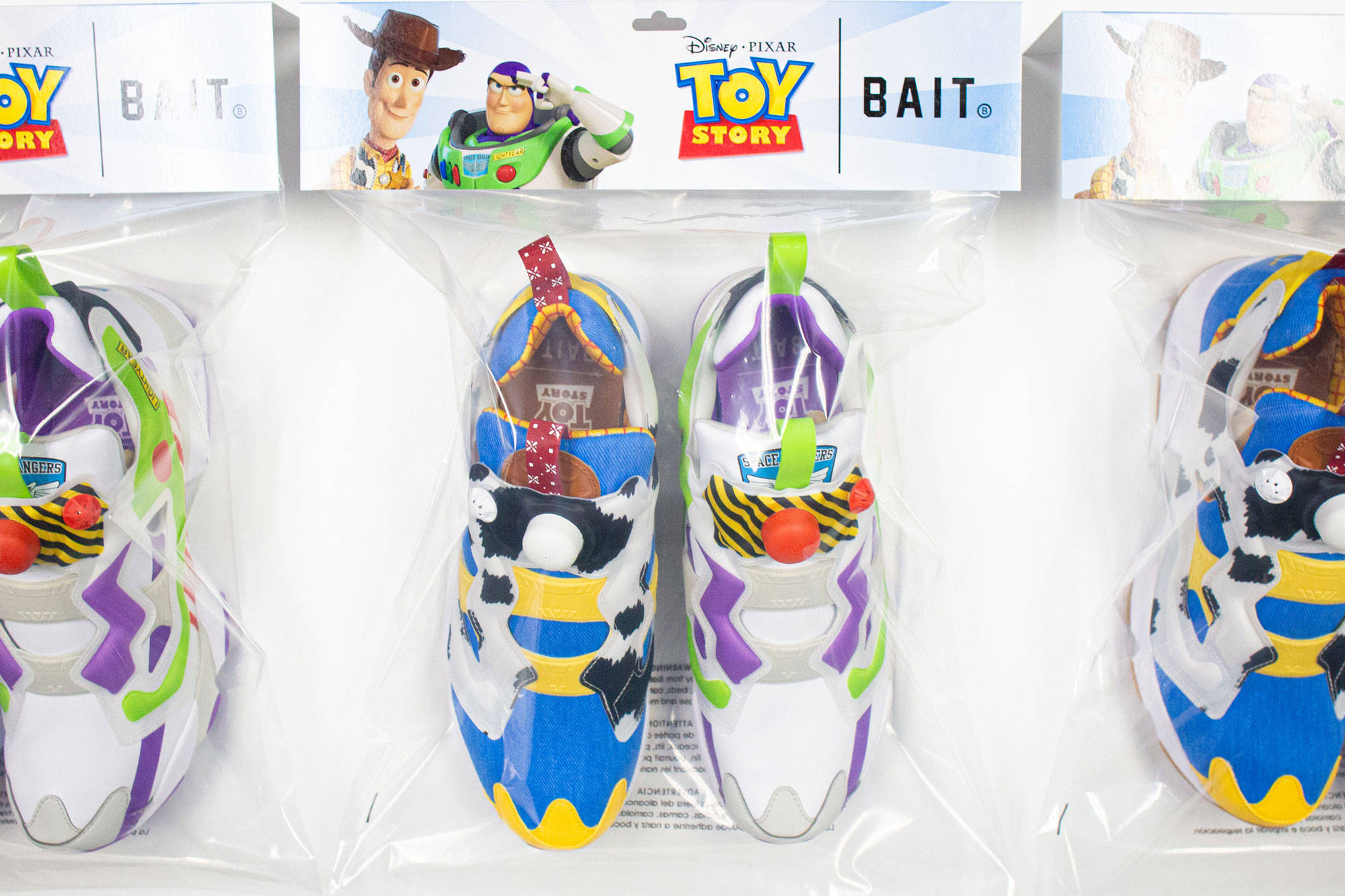 reebok instapump fury bait x toy story woody and buzz